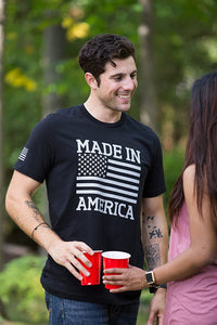Made in America | USA Military Pride Tactical Subdued Merica Flag Unisex T-Shirt