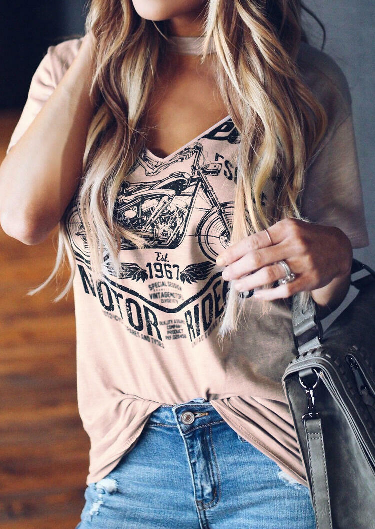 Fashion Tees V-Neck Short Sleeve