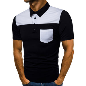 Polo Turn-down Collar Short Sleeve Shirts with Buttons