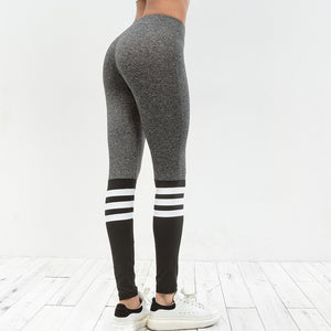 Women Colorblock Autumn Sporty Legging