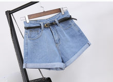 Load image into Gallery viewer, High Waist Women Jeans Denim Shorts