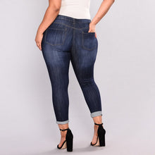 Load image into Gallery viewer, Distressed Plus Size Skinny Jeans