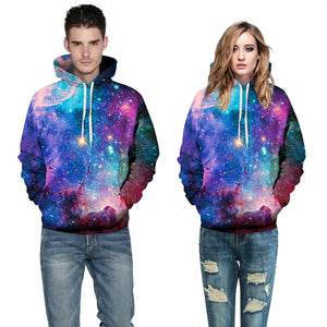 Men Women Space Galaxy 3D Print Hoodie Sweatshirts