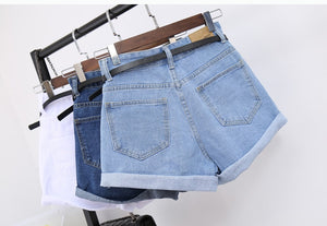 High Waist Women Jeans Denim Shorts