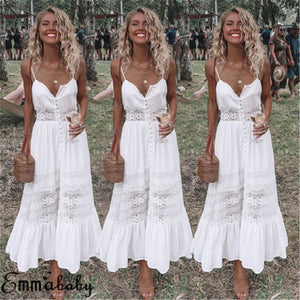 Women Boho Long Maxi Dress
