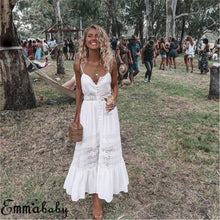 Load image into Gallery viewer, Women Boho Long Maxi Dress