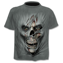 Load image into Gallery viewer, short sleeves 3d Prints skull T-shirts