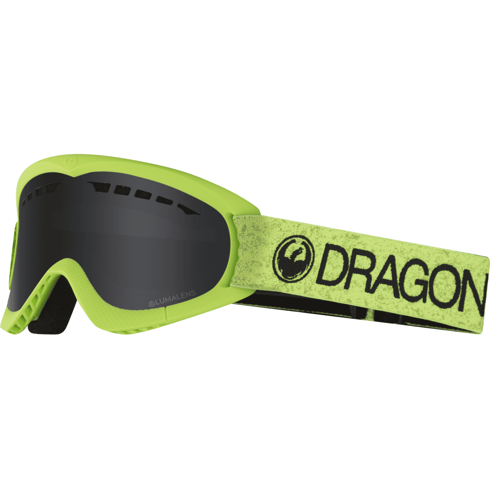 Unisex Dragon DXs Snow Green Dark Smoke Lens Goggles