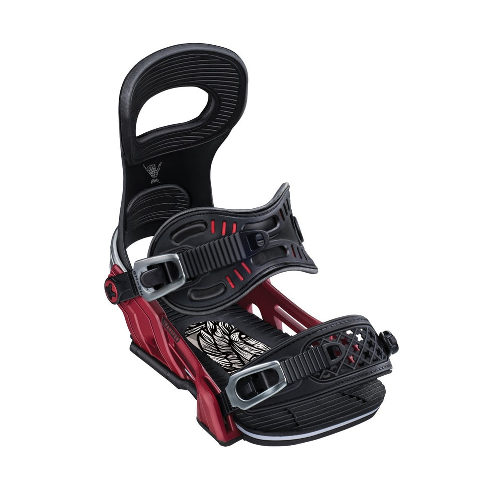 Mens Bent Metal Transfer Red Black Snowboard Bindings