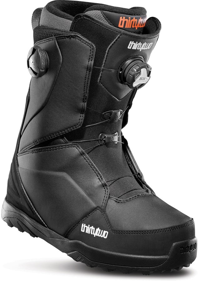 Mens Thirtytwo Lashed Double Boa Black Snowboard Boots