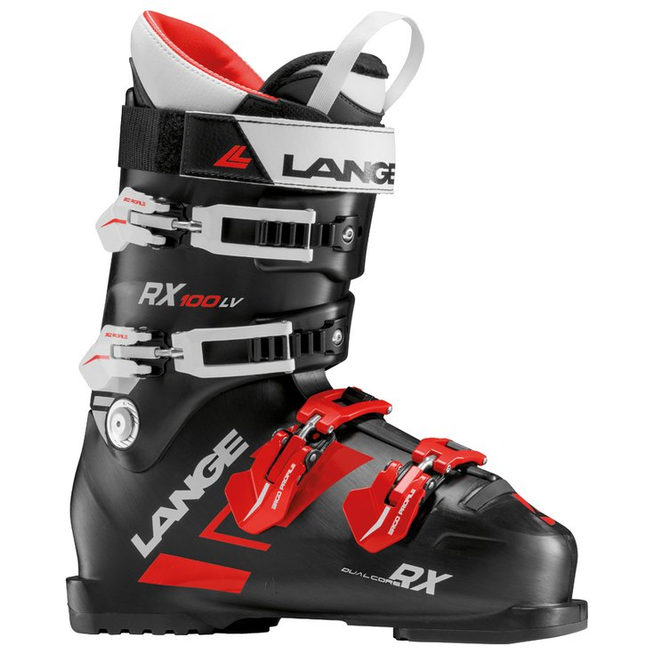 Mens Lange RX100 Black/Red Ski Boots