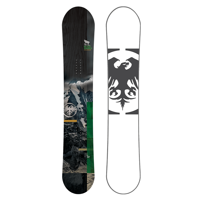 Mens Never Summer Chairman Freeride Snowboard