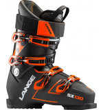Mens Lange SX 130 Black Orange Ski Boots