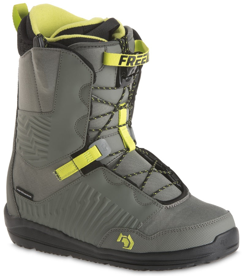 Mens Northwave Freedrom Grey Green Snowboard Boots