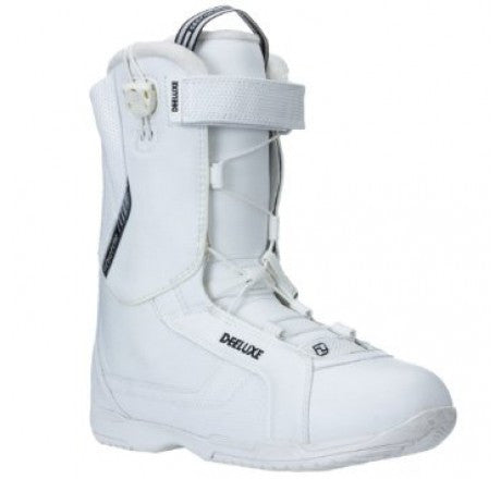 Mens Deeluxe Shuffle One White Snowboard Boots