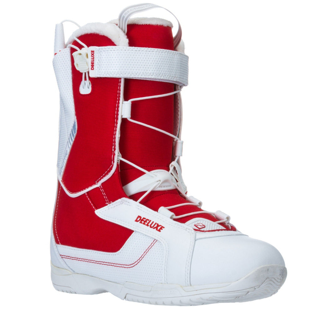 Mens Deeluxe Shuffle One White/Red Snowboard Boots