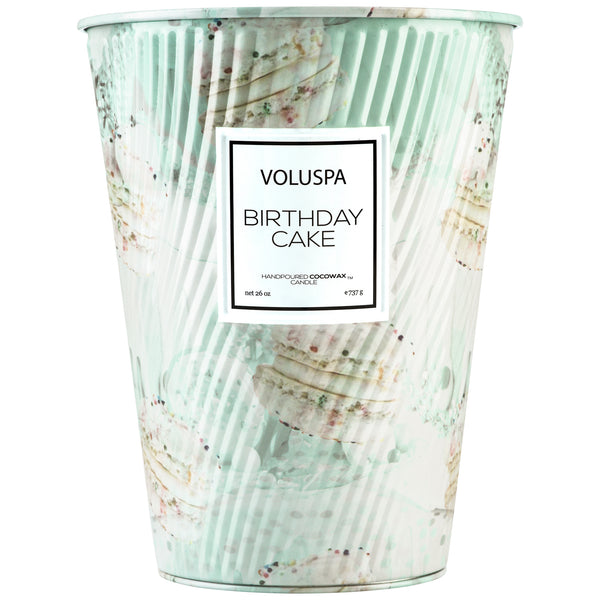 Birthday Cake - 2 Wick Tin Table Candle - 1