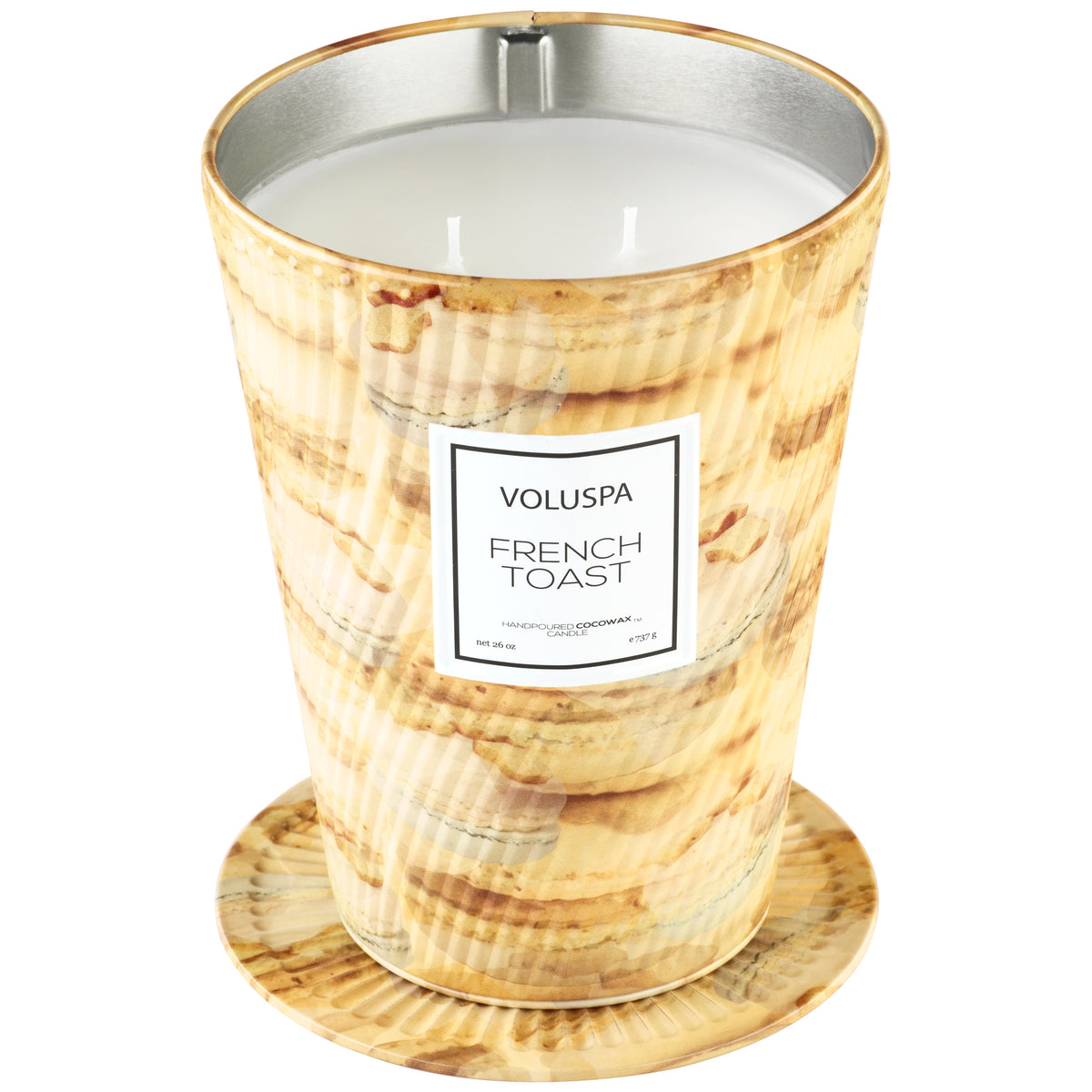 French Toast - 2 Wick Table Tin Candle - 2
