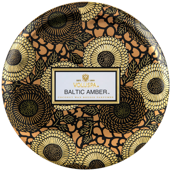 Baltic Amber - 3 Wick Tin Candle - 1