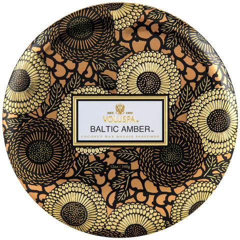 Baltic Amber - 3 Wick Tin Candle