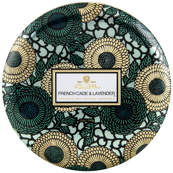 French Cade Lavender - 3 Wick Tin Candle - 1