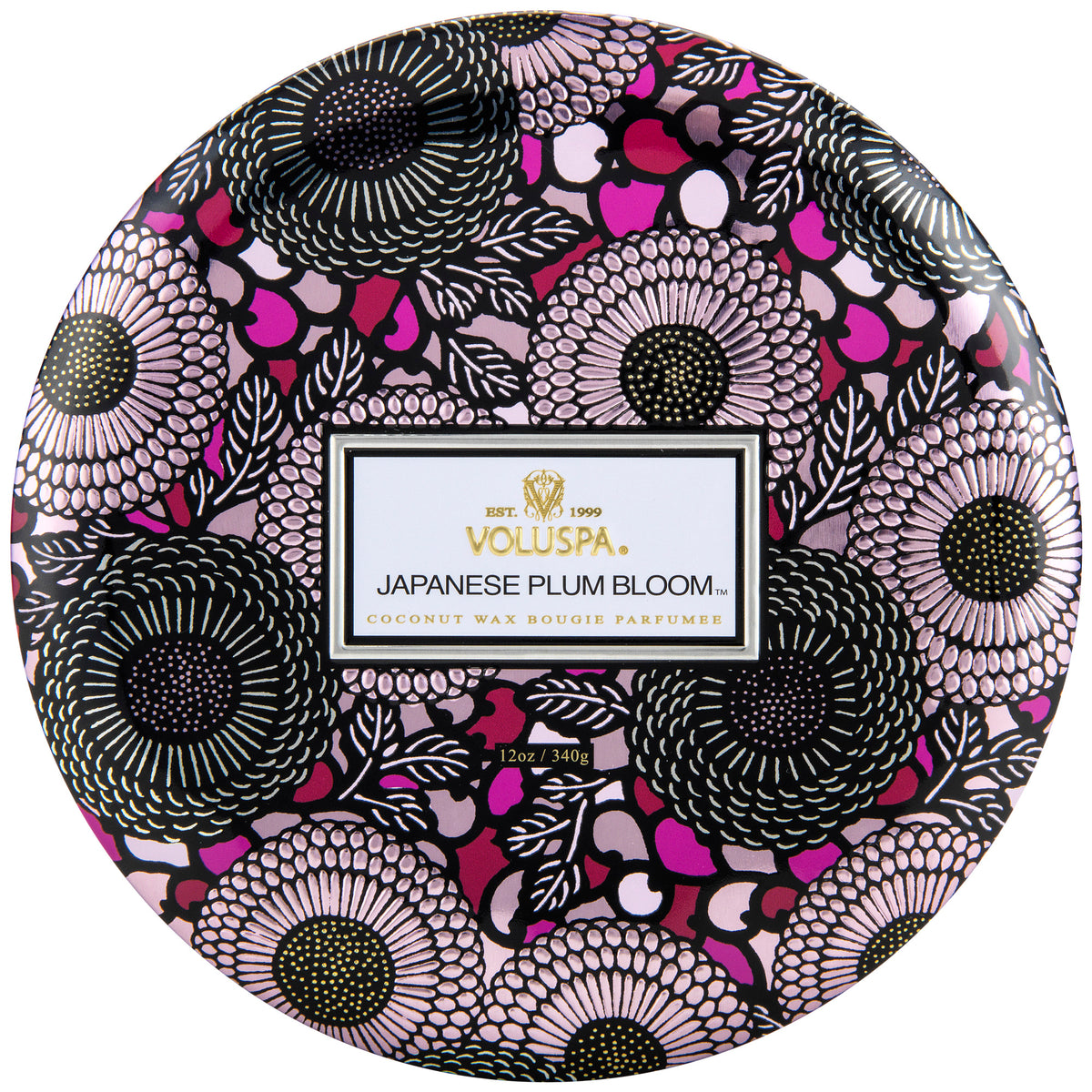 Japanese Plum Bloom - 3 Wick Tin Candle - 1