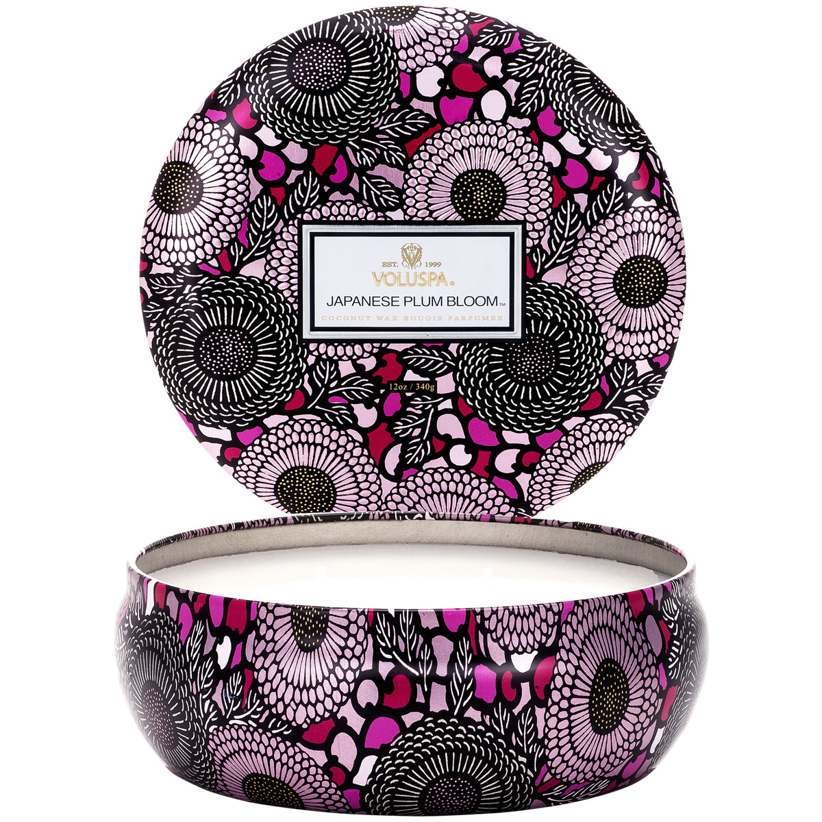 Japanese Plum Bloom - 3 Wick Tin Candle - 2