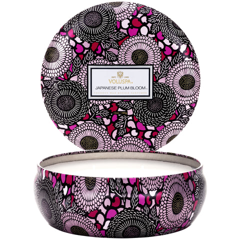 Japanese Plum Bloom - 3 Wick Tin Candle