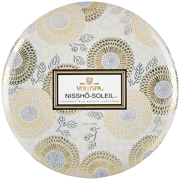 Nissho-Soleil - 3 Wick Tin Candle - 1