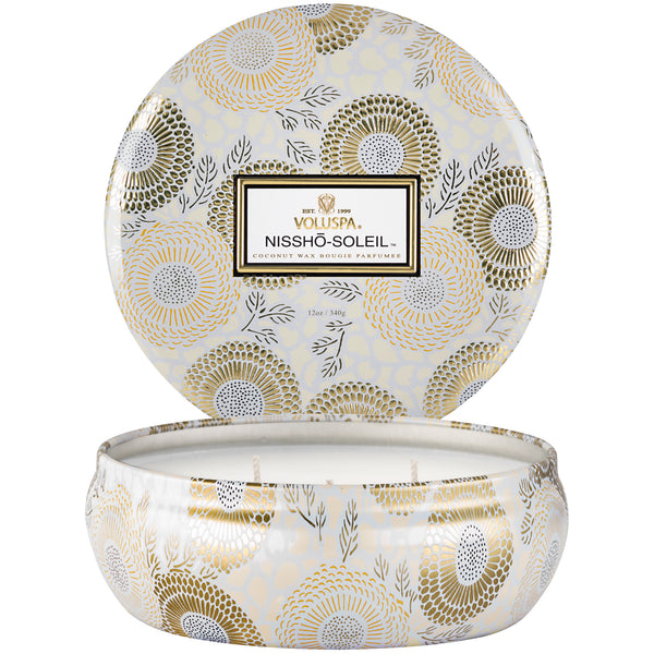 Nissho-Soleil - 3 Wick Tin Candle - 2