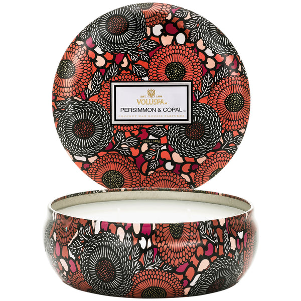 Persimmon & Copal - 3 Wick Tin Candle - 2
