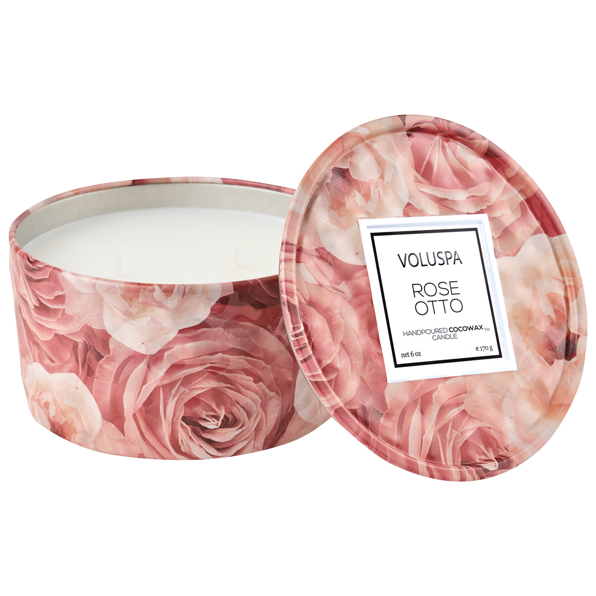 Rose Otto - 2 Wick Tin Candle - 1