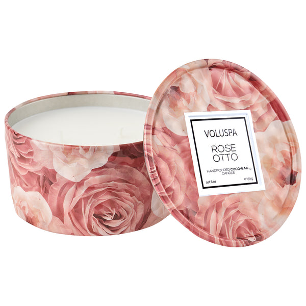 Rose Otto - 6 oz Tin Candle - 1