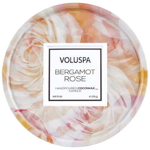 Bergamot Rose - 6 oz Tin Candle
