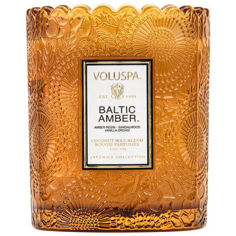 Baltic Amber - Scalloped Edge Candle