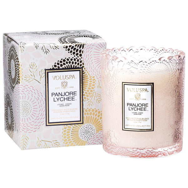 Panjore Lychee - Scalloped Edge Candle - 1
