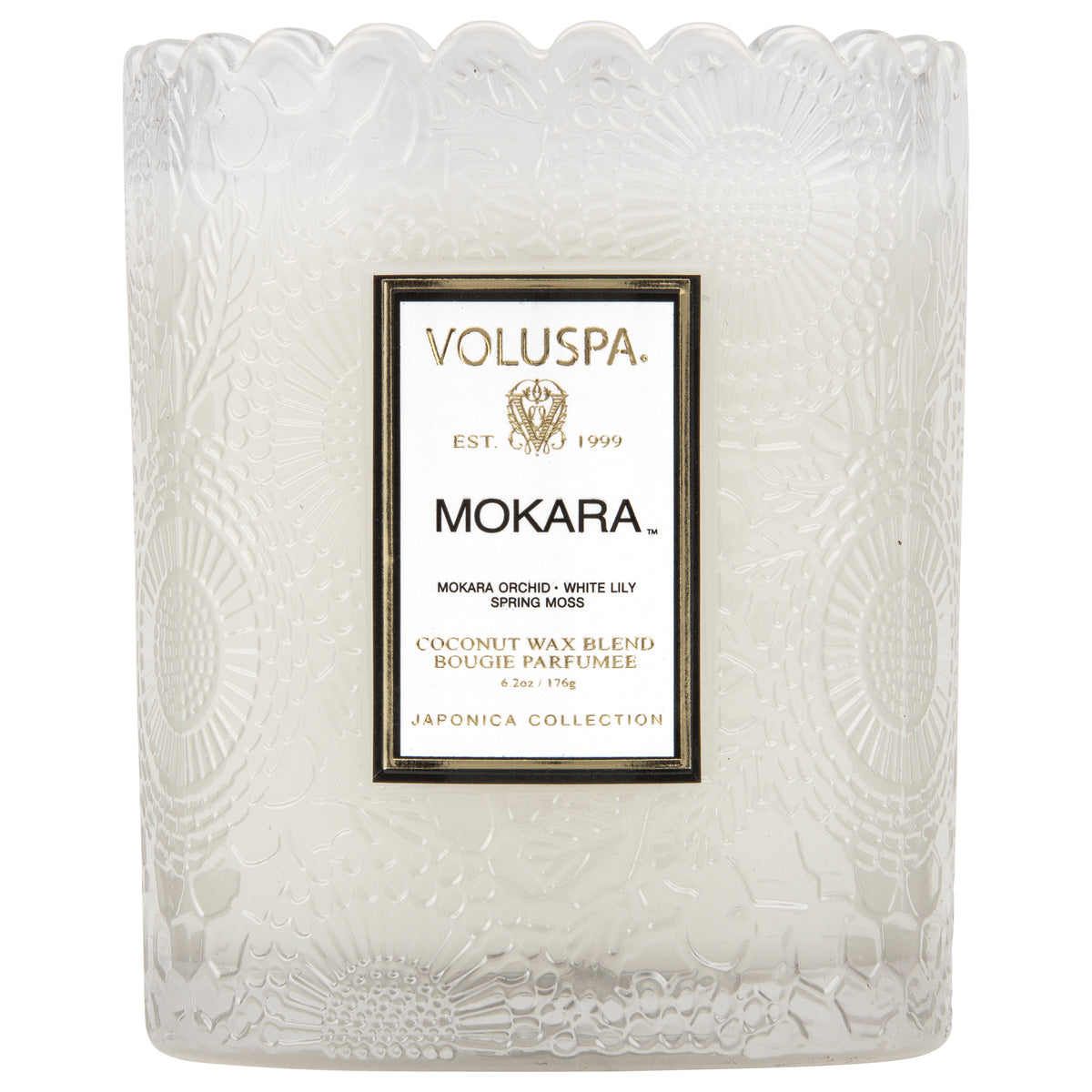 Mokara - Scalloped Edge Candle - 2