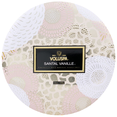 Santal Vanille - 3 Wick Tin Candle