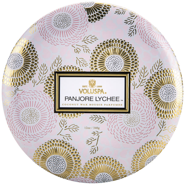 Panjore Lychee - 3 Wick Tin Candle - 1