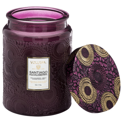 Santiago Huckleberry - Large Jar Candle