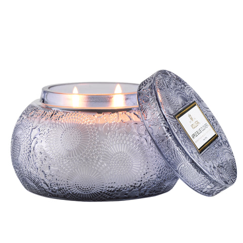 Apple Blue Clover - Chawan Bowl Candle