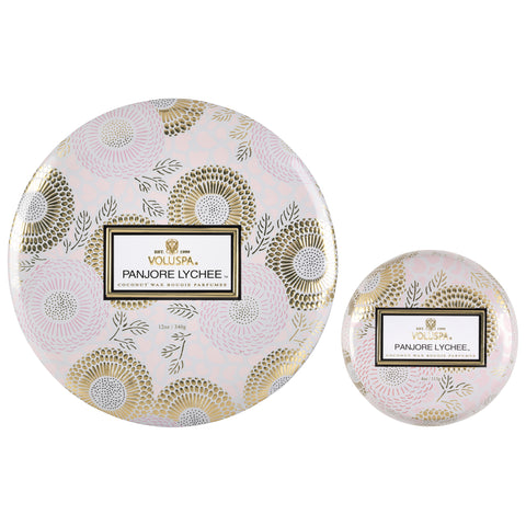 Tins for Tatas - Panjore Lychee Tin Candle Set