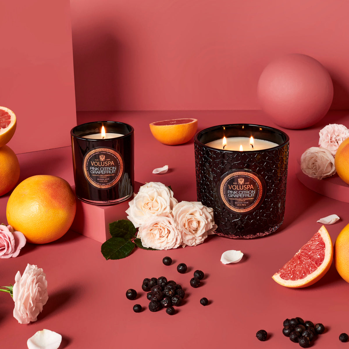 Pink Citron Grapefruit - Luxe Candle - 3