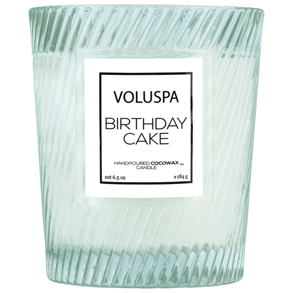 Birthday Cake - Textured Glass Candle - 1