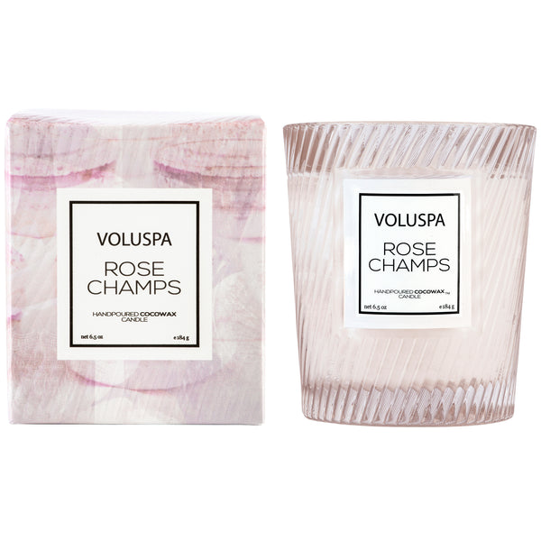 Rose Champs - Textured Glass Candle - 2