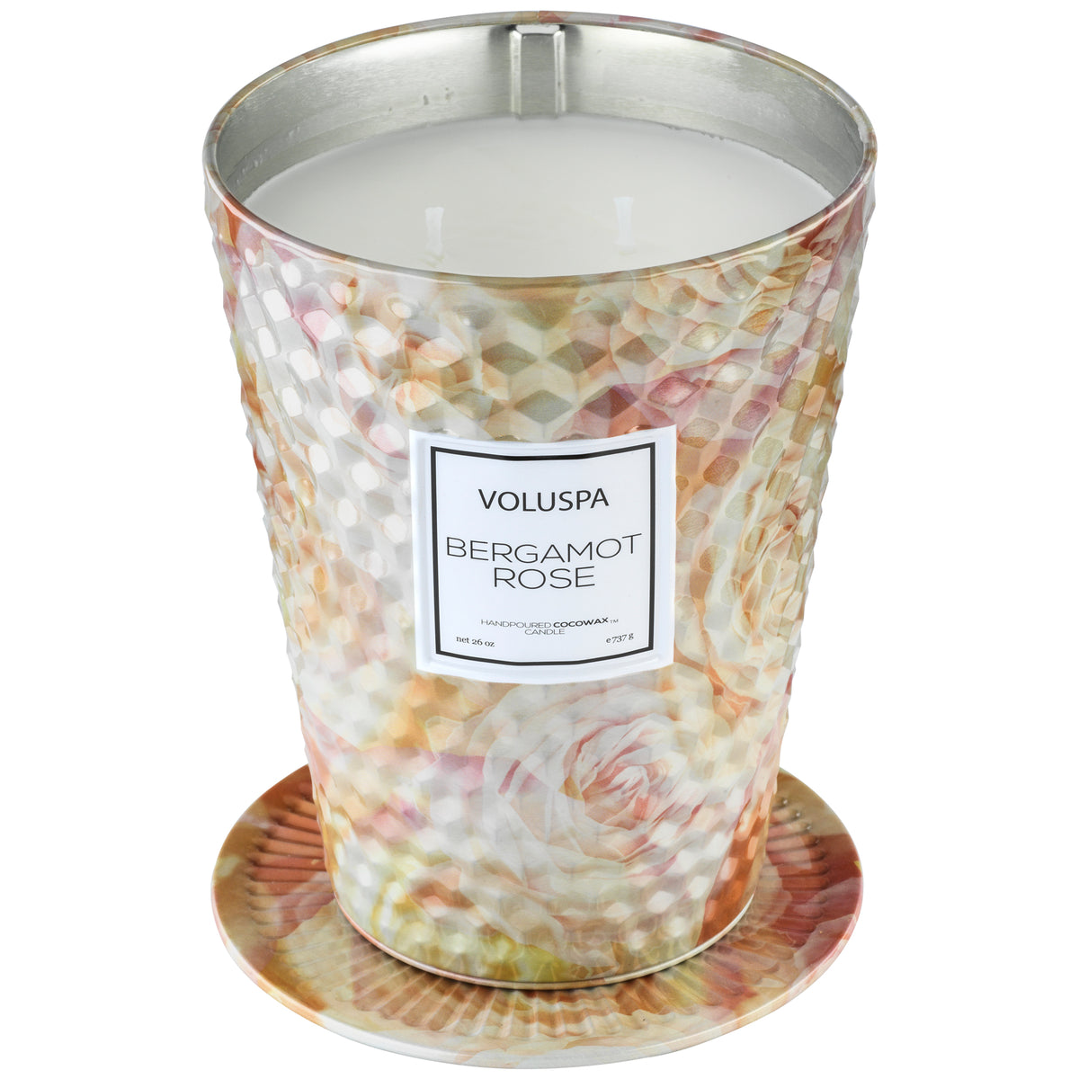 Bergamot Rose - 2 Wick Tin Table Candle - 2