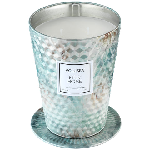 Milk Rose - 2 Wick Tin Table Candle
