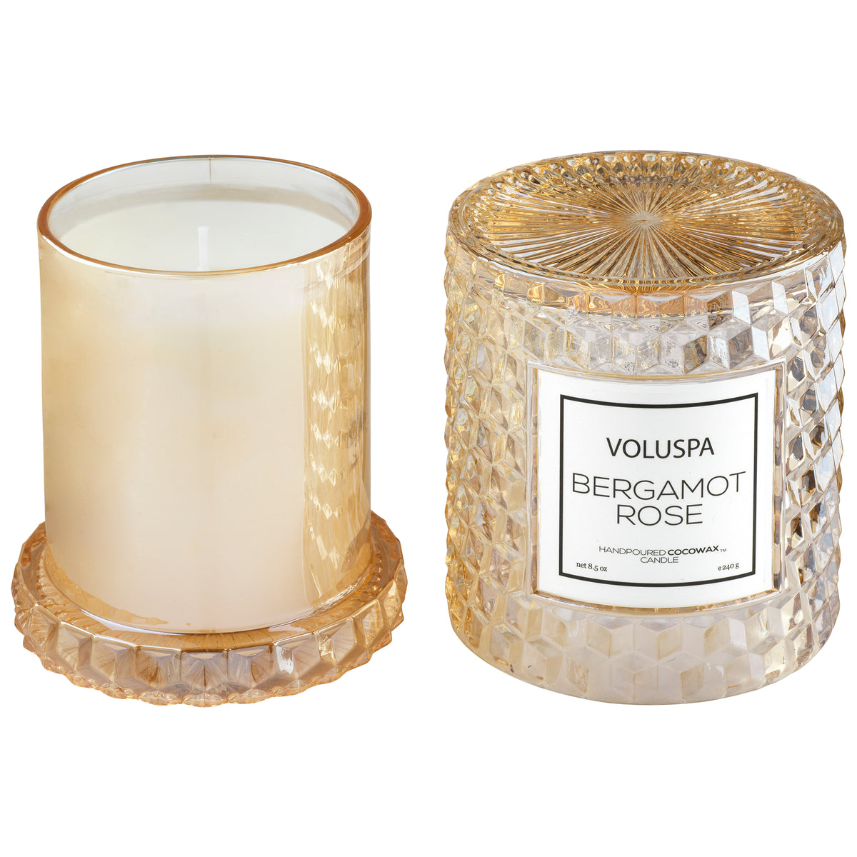 Bergamot Rose - Cloche Candle - 3