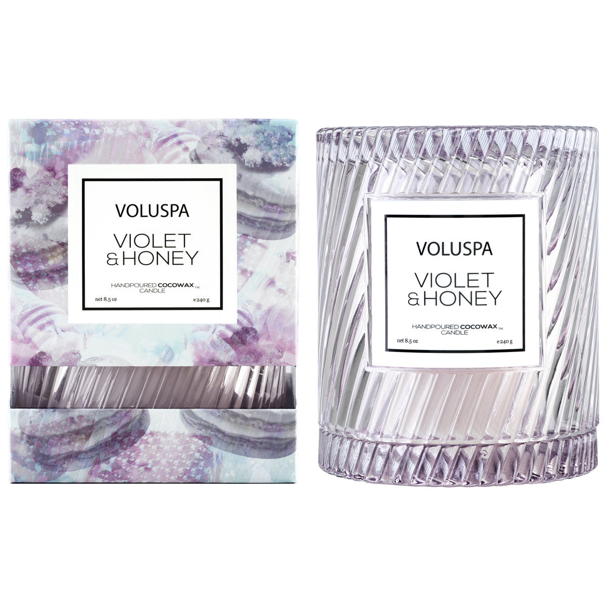 Violet & Honey - Cloche Candle - 2