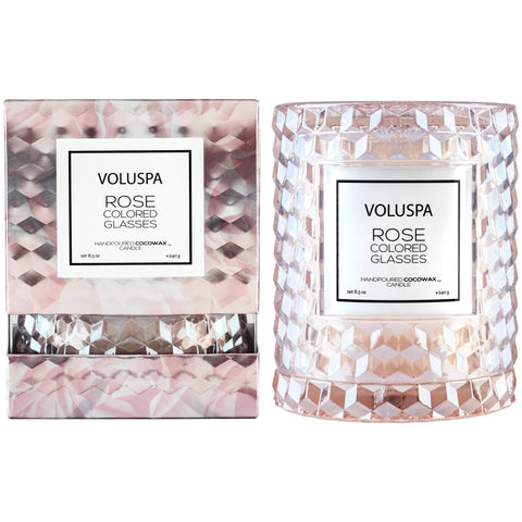 Rose Colored Glasses - Cloche Candle